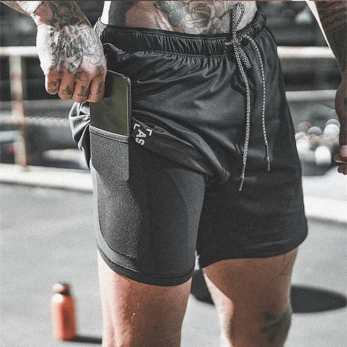 New Arrival 2019 Summer Double-Deck Mens Fitness Bodybuilding Breathable Quick