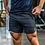 Thumbnail: Summer Mens Slim Brand Shorts Calf-Length Fitness Bodybuilding Fashion Casual