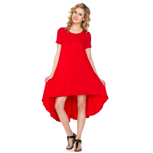 Comfy Dress -Red