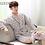 Thumbnail: 2019new Arrival Fashion Cloth 100%cotton Men Sleeping  Robes Plaidprinted
