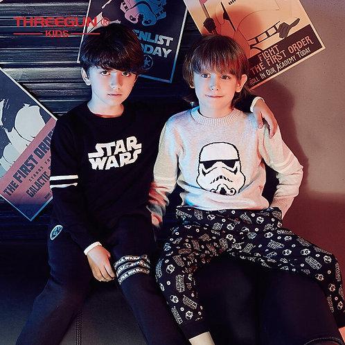 THREEGUN KIDS X Star Wars Children Sweater for Toddler Boys Teenager Cotton Tops