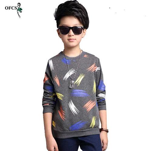 Boy Brand 5-16 T Cardigan Design Color Printing Cotton Knitwear Autumn Baby