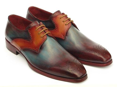 Paul Parkman Men's Multi-Color Medallion Toe Derby Shoes