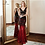 Thumbnail: Poems Songs Hollow Evening Dress Prom Gowns  Red Black Long Sequin