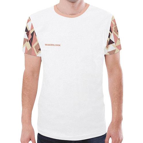 Fashion Abstract Men's Sleeves Print Mesh T-Shirt