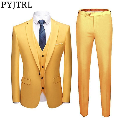 Three Pieces Set Business/ Casual Slim Fit Suits Wedding Groomsman