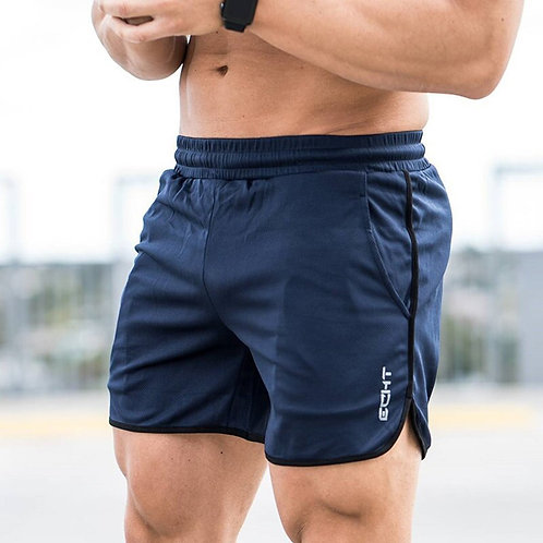 Summer Style Mens Slim Shorts Calf-Length Fitness Bodybuilding Male Casual