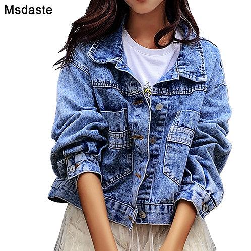 Jeans Jackets Coats Women 2019 Short Casual Denim Coat