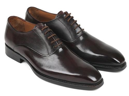 Paul Parkman Men's Plain Toe Oxfords Brown (ID#5661-BRW)
