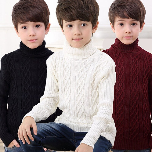 2020 New Autumn Winter Boys Sweater Long-Sleeved Round Collar Pullover Sweater