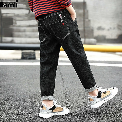 Teen Boys Jeans Autumn Spring Kids Clothes Cotton Casual Children Jean  Pants