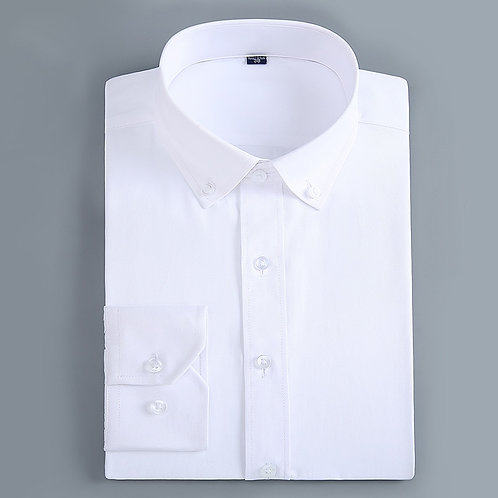 Men's Casual Long Sleeve Standard-Fit Dress Shirts Formal Business Button Up T