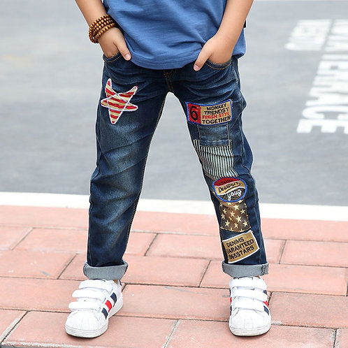 Children Jeans Boys Cotton Jeans 3-11 Y Teenage Spring and Autumn Denim Trousers