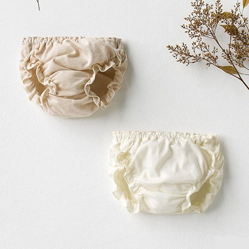 Girl Fashion Solid Color Lace Cotton Underpants Infant the Diaper Pants Baby