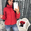 Thumbnail: FORERUN Fashion Bubble Coat Solid Standard Collar Oversized Short Jacket