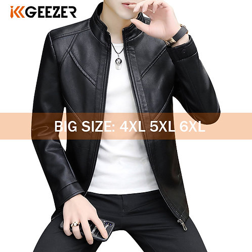 Leather Bomber Jackets 2020 Motorcycle Stand Collar Brown Coats High Quality