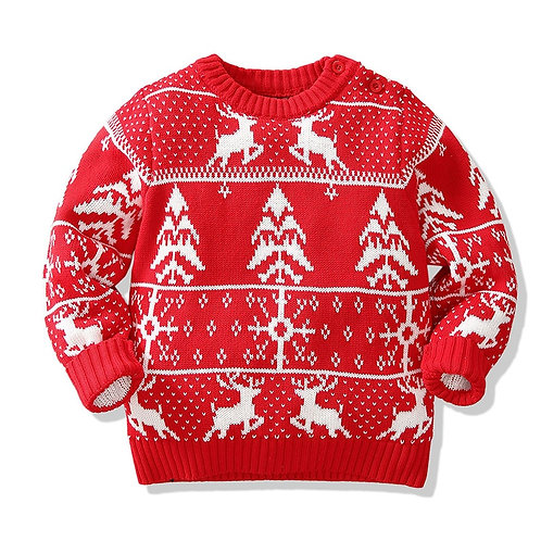 Christmas  Baby Boys Girls Sweaters Winter 2019 Toddler Baby Clothes With Deer