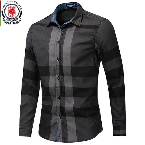 Men Long Sleeve Casual Slim Fit Shirts