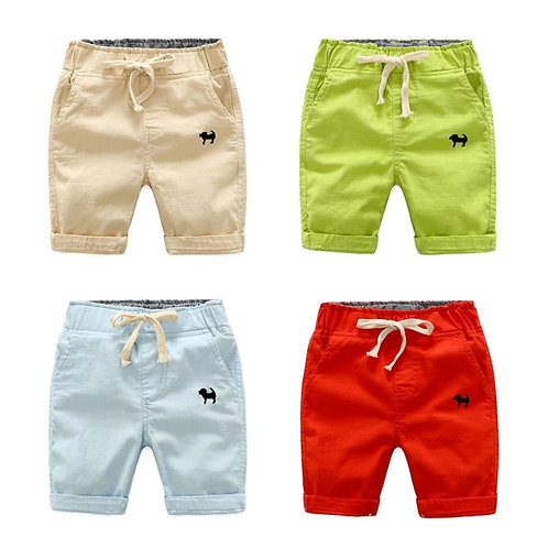 2020 Summer Boys Casual Shorts Children Cotton Elastic Waist Pants Toddler Kids