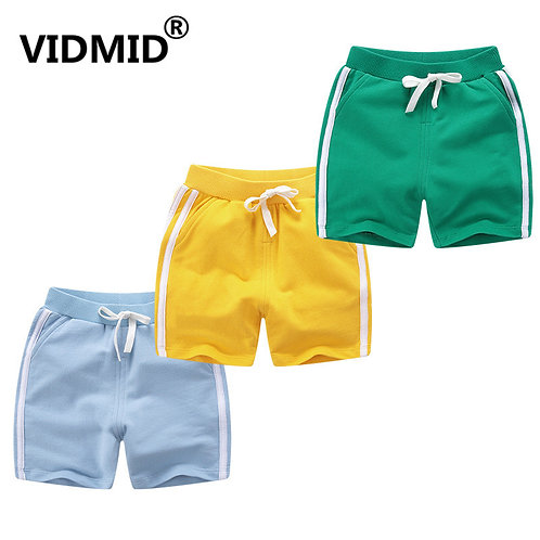 VIDMID Kids Summer Shorts Age for 1-10y Baby Boys Girls Casual Candy Color Beach