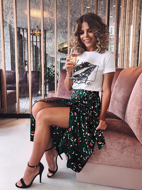 2020 Summer Vintage Leopard Print Long Skirts Woman