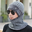 Thumbnail: New Winter Warm Hat Scarf Set Plush Beanies Hats Knitted Thick for Men