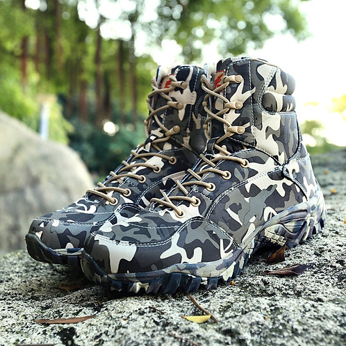 Military Army Men Boots Winter Lace Up Waterproof Outdoor Breathable Shoes