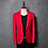 Thumbnail: PYJTRL Brand Men's Casual Red Suit Jacket Wedding Slim Fit Men Blazer