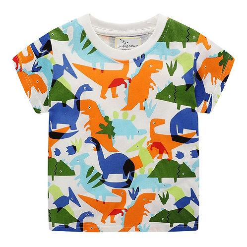 Dinosaur Boys T Shirt Kids Summer Clothes Cartoon New Summer Baby Boys