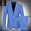Thumbnail: Light Blue Blazer Men's Suit Jacket Set High Quality  Very Large  Big Man