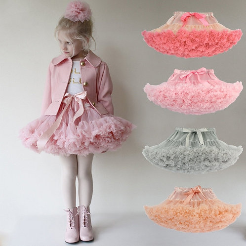 Drop Shipping Baby Girls Tutu Skirt Fluffy Children Ballet Kids Pettiskirt Baby