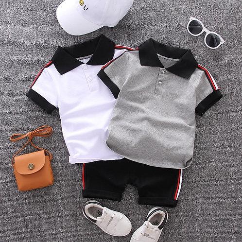 Baby Boys Clothing Set Summer Tops Shorts Cotton Children Kids Sport Suit