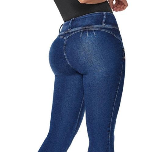 Women Casual Jeans High Waist Skinny Butt Lifting Elastic Bodycon Pencil