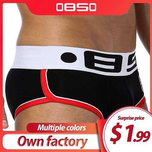ORLVS Brand Hot Men Underwear Boxers Sexy Printed Cotton Men Boxer