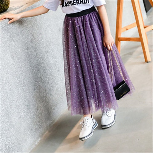 Baby Girls Kids Clothes Tutu Skirt Sequined Stars and Dot Girl Skirts Children