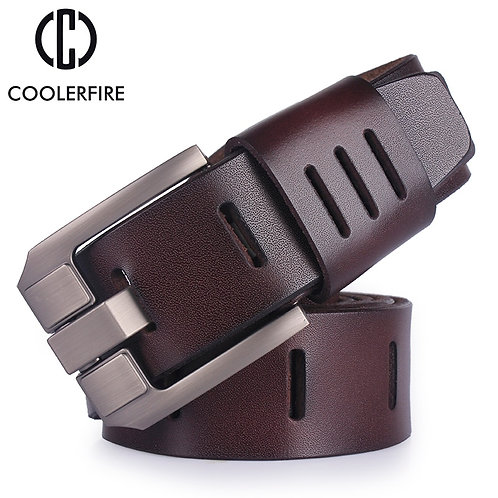 Leather Belts for Men Brand Male Pin Buckle Jeans Cowboy Belt Luxury Designer HQ