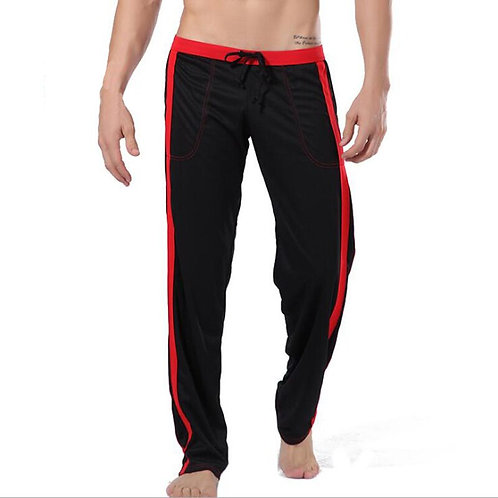 KWAN.Z Pajamas for Men Sleepwear Pajama Trousers Polyester Loose Pants Thermal