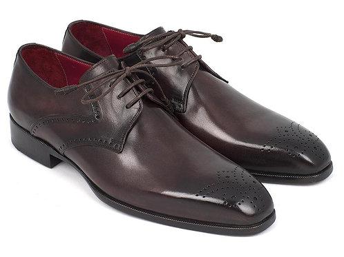 Paul Parkman Men's Brown Medallion Toe Derby Shoes