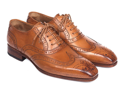 Paul Parkman Wingtip Oxfords Cognac (ID#5447-CGN)