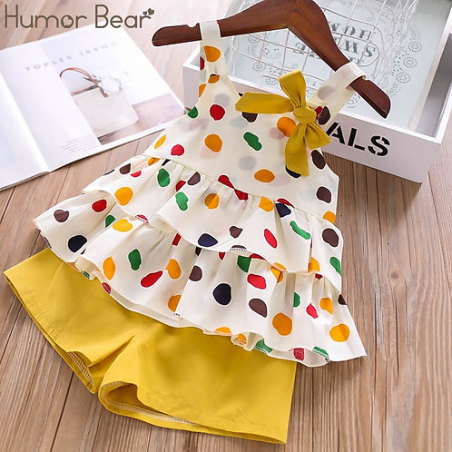 Humor Bear Baby Girls Clothes Suit 2020 Brand NEW Summer Toddler Girl Clothes