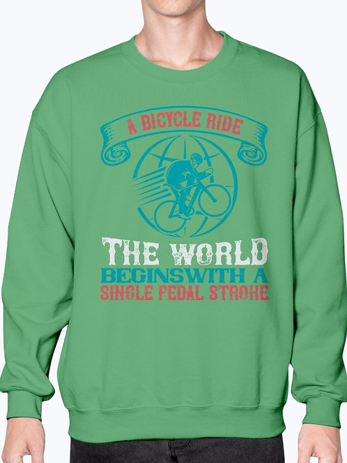 A Bicycle Ride Around the World Begins With a Single Pedal Stroke - Sweatshirt