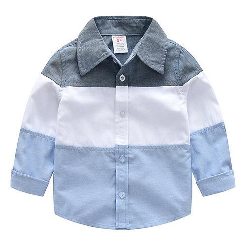 Shirt for Boys Kids Cotton Button Turn-Down Shirts Toddler Boys Collar Shirt