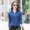 Thumbnail: Fashion Women Long Sleeves Shirt Loose Polo v Neck Button Shirt