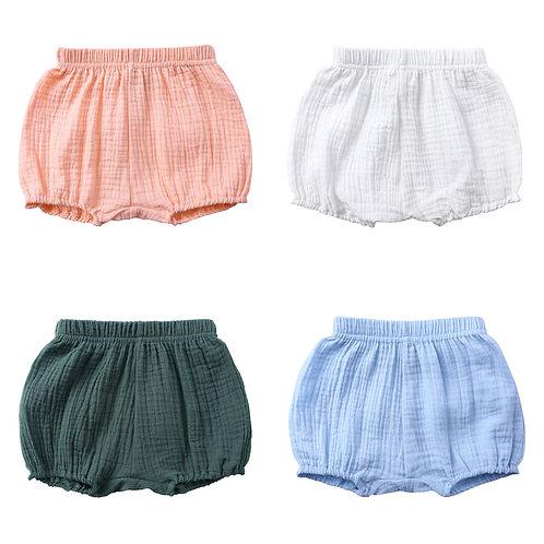 Summer Kids Boys Shorts Solid Color Baby Girl Shorts Cotton Linen Bread Short