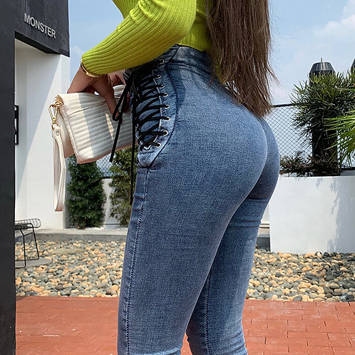 High Waist Hips Tight Jeans Female Sense Europe and the United States