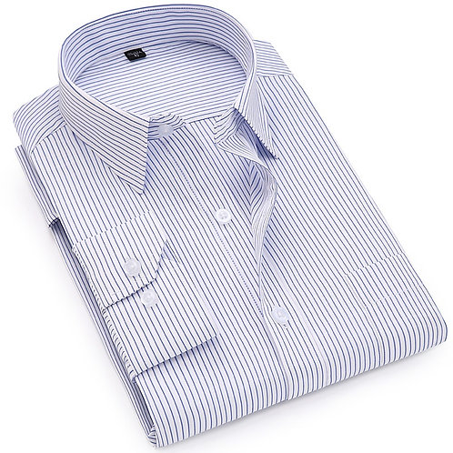 Men Striped Dress Shirt Long Sleeve / Business Formal