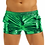 Thumbnail: Iiniim Mens Shiny Metallic Night Club Party Shorts Elastic Waistban Boxer Shorts
