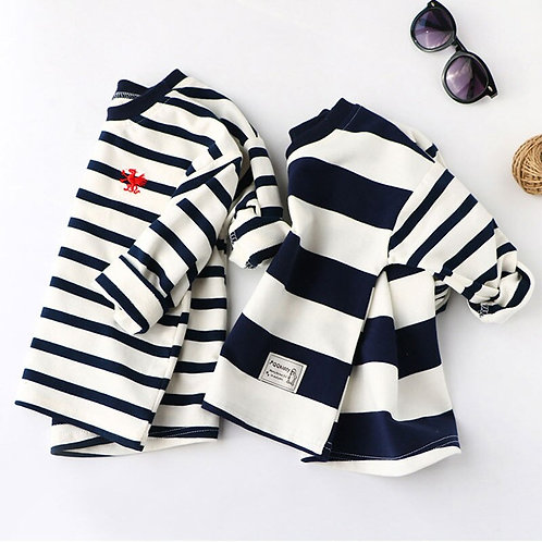 Boys Spring Hoodies Children Cotton Long Sleeve Sweatshirt Striped Casual
