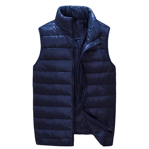 New Arrival Men Sleeveless Jacket Winter Ultralight White Duck Down Vest Male