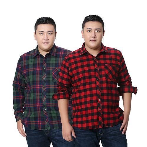 100% Full Cotton Plaid Business Casual Shirt Men